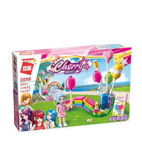 ENLIGHTEN 2008 Rainbow Balloon Booth Building Blocks Toy Set