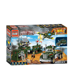 ENLIGHTEN 1713 Mobile Strike Force Vehicle Building Blocks Toy Set