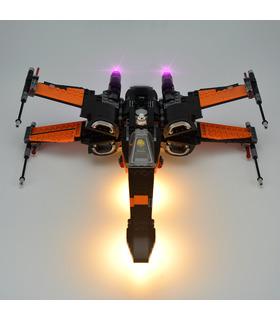 Kit d'éclairage Pour Star Wars Poe X-Wing Fighter Set de projecteurs à LED 75102