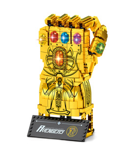 Custom Golden Infinity Gauntlet Building Blocks Toy Set 1029 Pieces