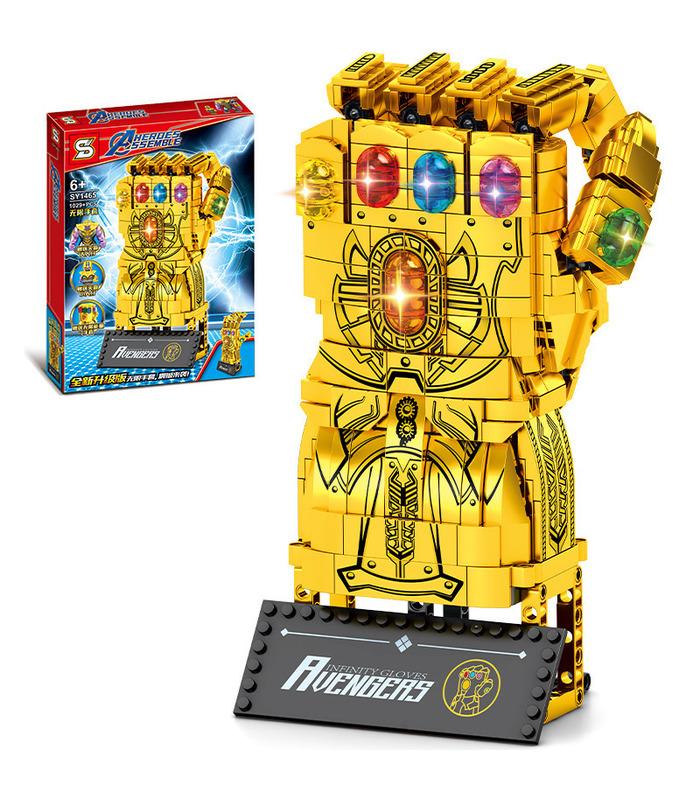 Custom Golden Infinity Gauntlet Building Blocks Toy Set 1029 Pieces