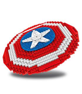 Custom Captain America Shield Building Blocks Spielzeug-Set 405 Stück