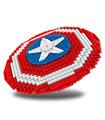 Benutzerdefinierte Captain America Shield Bausteine Spielzeug Set 405 Stück