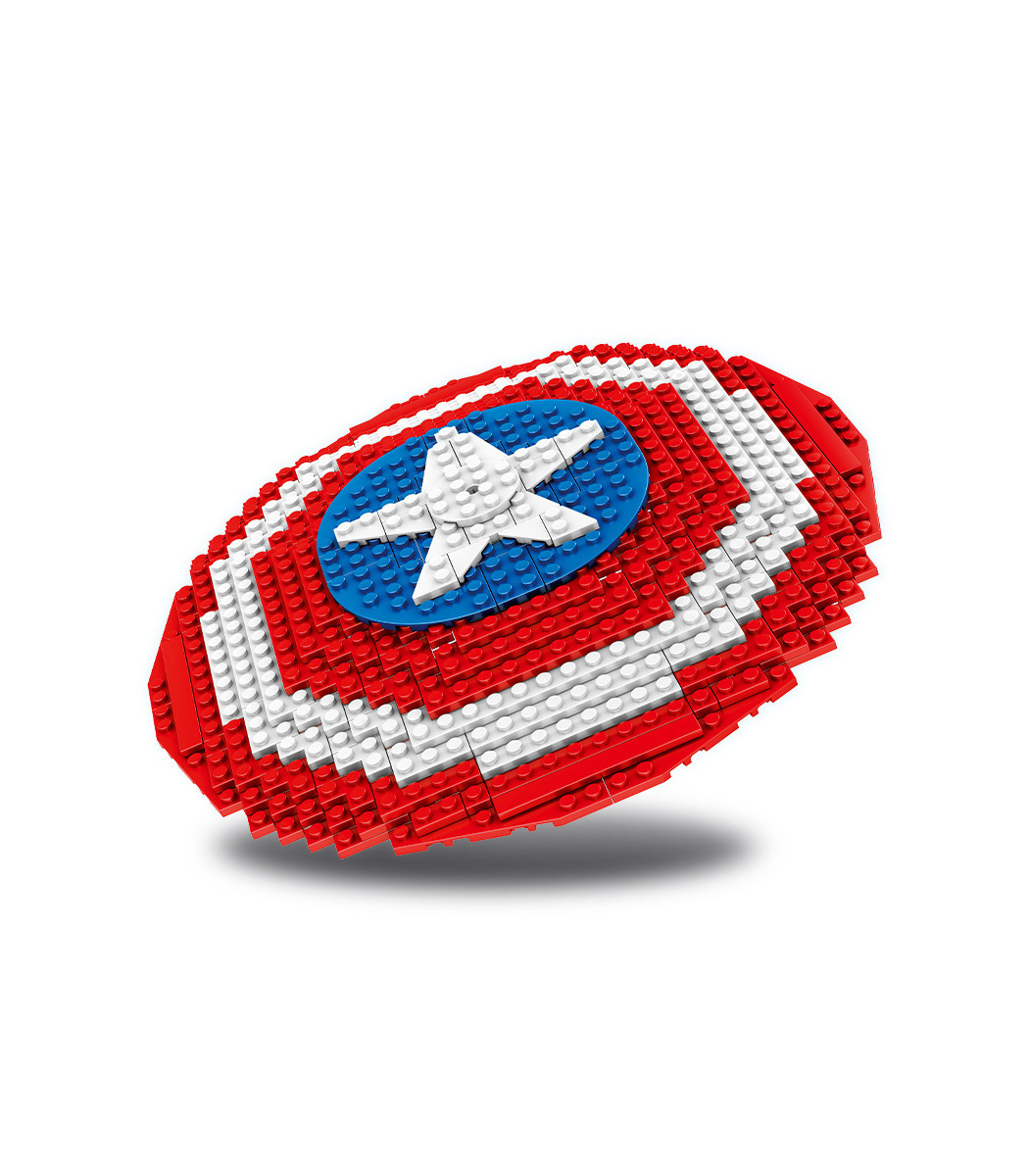 Benutzerdefinierte Captain America Shield Bausteine Spielzeugset ...