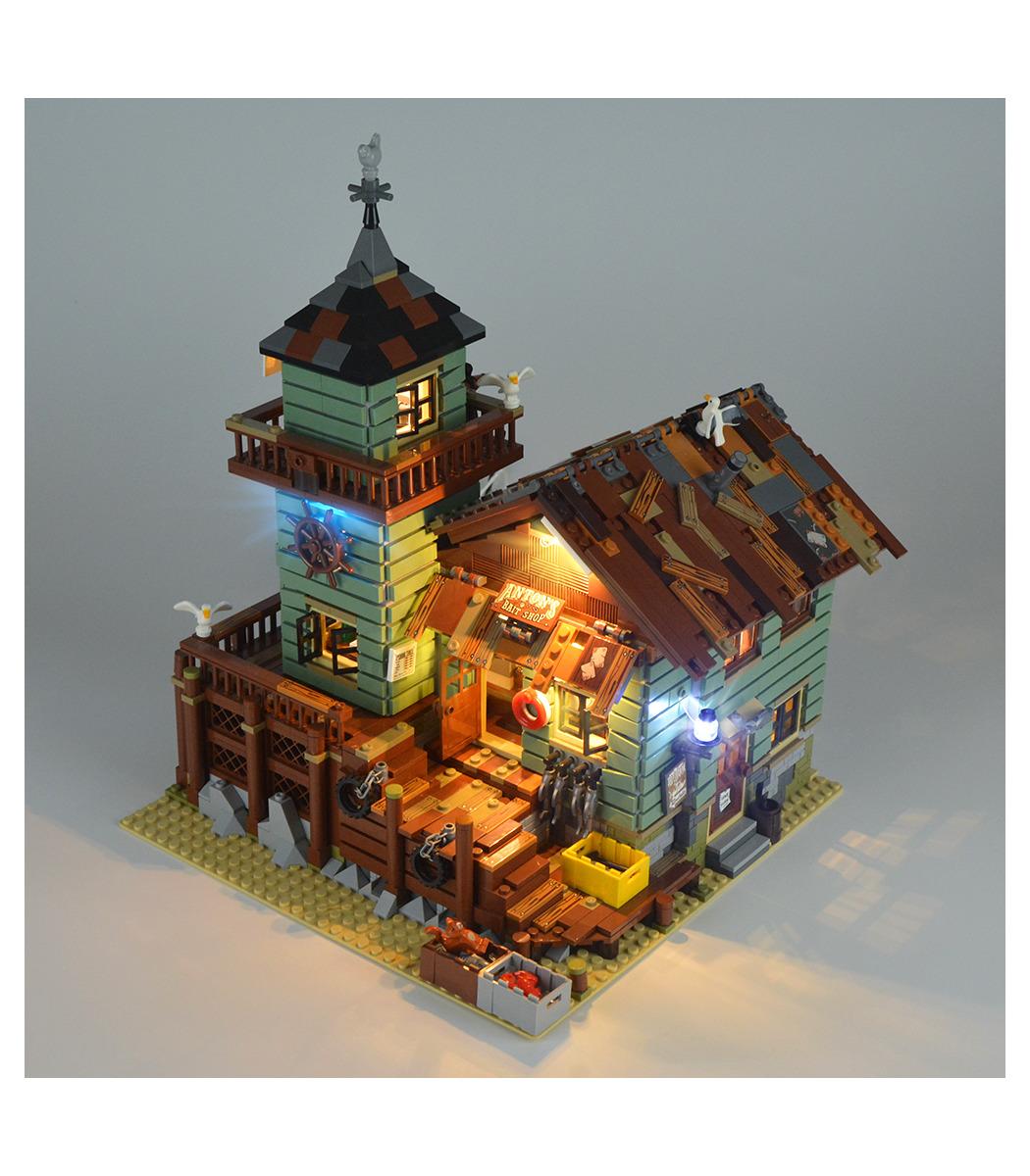 USB LED Licht Beleuchtungs Set Für Lego 21310 Fishing Store Bausteine DIY