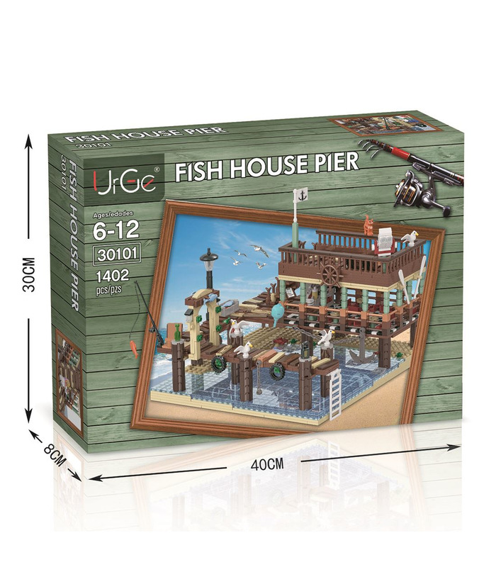 Customer Fish House Pier For Old Fishing Store 1402 Pieces