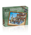 Customer Fish House Pier For Old Fishing Store Building Bricks Toy Set 1402 Pieces