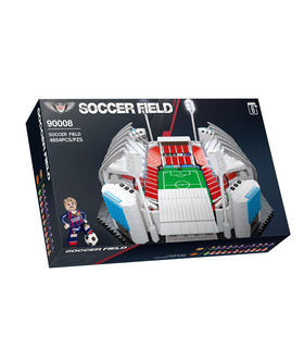 QIZHILE 90008 Soccer Field Football Stadium Building Blocks Toy Set