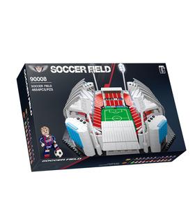 QIZHILE90008サッカーフィールドサッカースタジアムブロック玩具セット