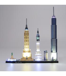 Light Kit For Architecture New York City LED Highting Set 21028