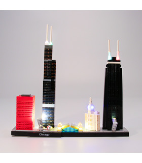 Light Kit For Architecture Chicago LED Lighting Set 21033