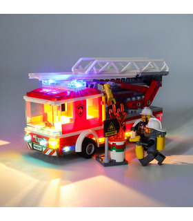 Light Kit For City Fire Ladder Truck LED Lighting Set 60107