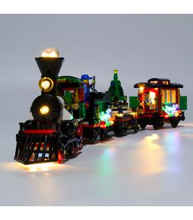 Light Kit For Winter Holiday Train LED Lighting Set 10254