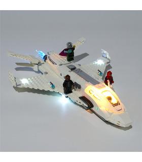 Kit d'éclairage Pour Marvel Stark Jet et l'Attaque de Drone Set de projecteurs à LED 76130