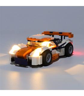 Kit d'éclairage Pour le Coucher du soleil Track Racer Set de projecteurs à LED 31089