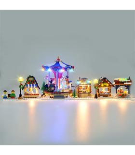 Light Kit For Christmas Winter Village Market LED Lighting Set 10235