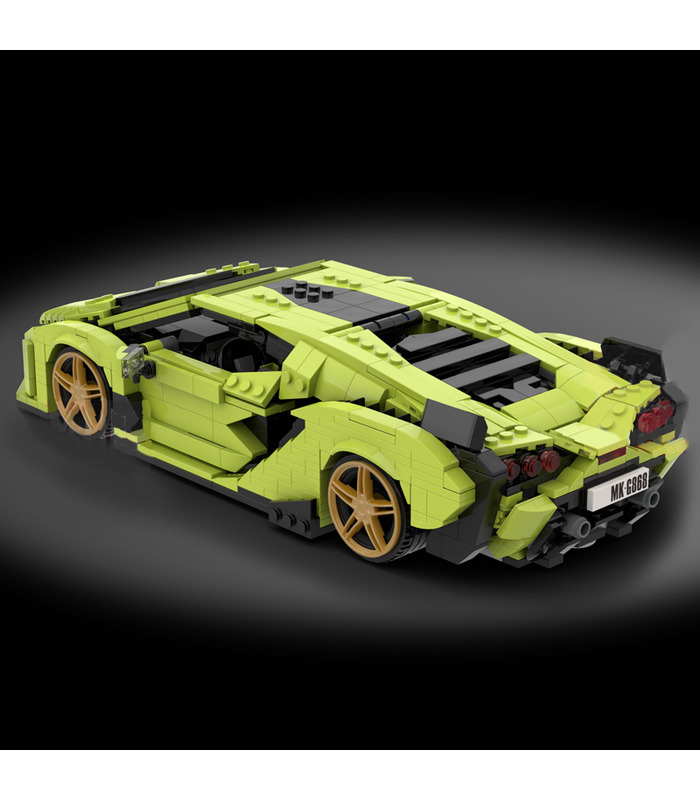 MOULD KING 10011 Lamborghini Sian Sports Car Building Blocks Toy Set