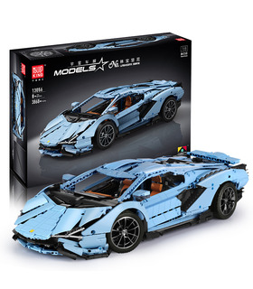 FORMKÖNIG 13056 Lamborghini Sian FKP 37 Blue Manual Edition Bausteine Spielzeugset