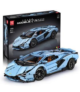 MOLDE REY 13056 Lamborghini Sian FKP 37 Azul Manual de Edición de Bloques de Construcción de Juguete Set