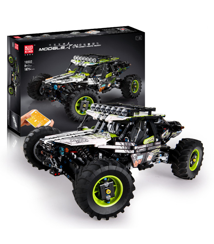 MOULD KING 18002 Off-Road Green Hound Buggy Remote Control Building Blocks Toy Set