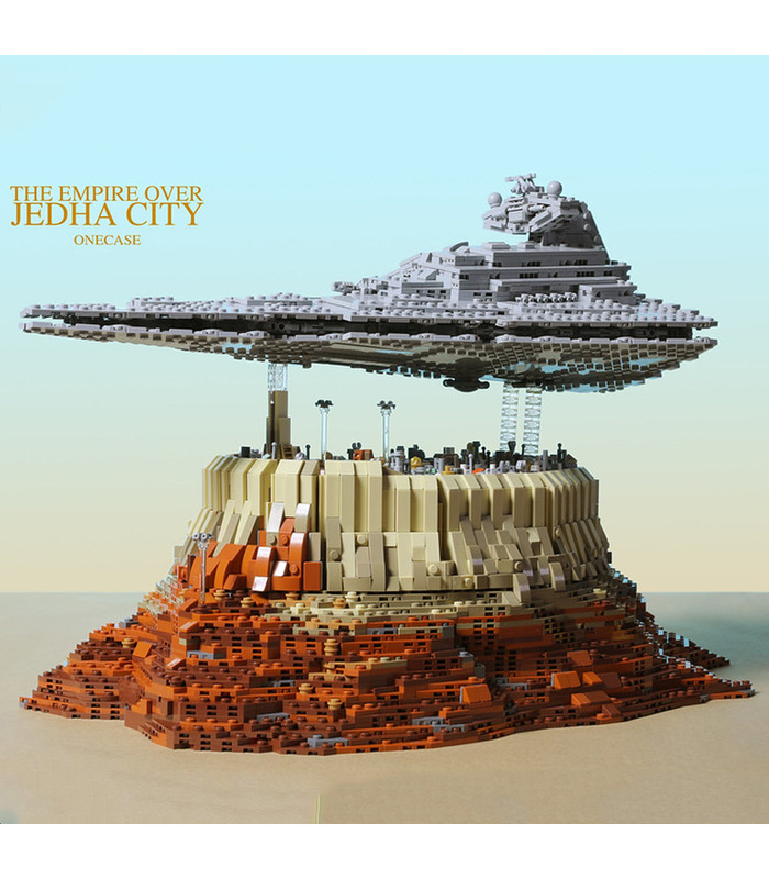 MOULD KING 21007 The Empire Over Jedha City Building Blocks Toy Set