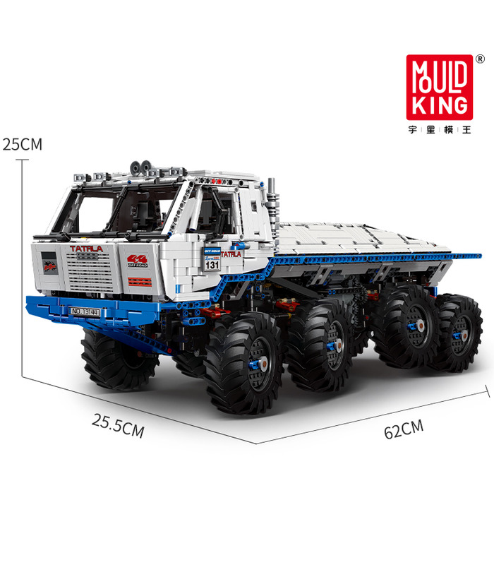 MOULD KING 13144 Tatra T813 8×8 PROFA Remote Control Building Blocks Toy Set