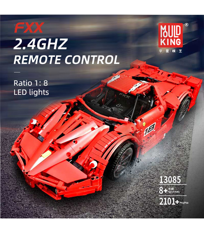 MOLD KING 13085 Modelle FXX Supercar Fernbedienung Bausteine Spielzeugset