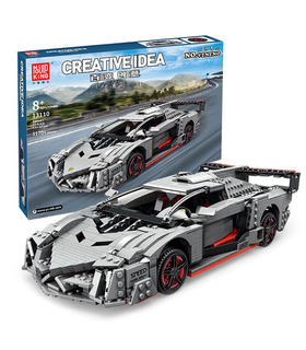 MOULD KING 13110 Lamborghini Poison Creative Idea Veneno Building Blocks Toy Set