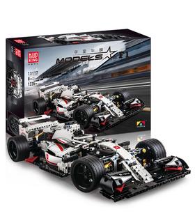 SCHIMMEL KÖNIG 13117 Stadt F1 Racing Auto Bausteine Spielzeug-Set
