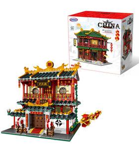 XINGBAO 01004 Kampfkunst Schulen Bausteine Spielzeug-Set