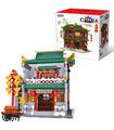 XINGBAO 01023 Zhengtong Edificio del Banco de Ladrillos Conjunto de Juguete