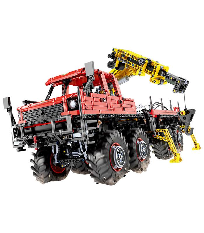 MOULD KING 13146 Articulated Logging 8×8 Off Road Truck Building Blocks Toy Set