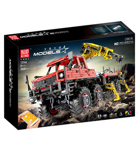 MOULD KING 13146 Articulated Logging 8×8 Off Road Truck Building Blocks Toy Set