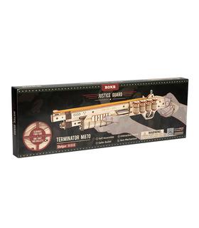 ROKR 3D Puzzle Scatter mit Gummiband Bullet Wooden Gun Building Toy Kit