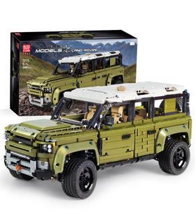 SCHIMMEL KÖNIG 13175 Defender Off-Road-Fahrzeug mit Bausteine-Spielzeug-Set