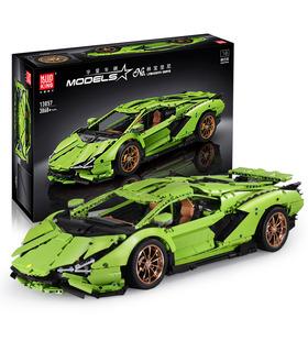 FORMKÖNIG 13057 Lamborghini Sian FKP 37 Green Manual Edition Bausteine Spielzeugset