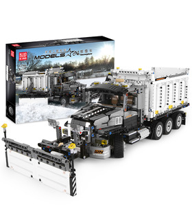 MOULD KING 13166 Mack Granite Snow Plow Truck Building Blocks Toy Set
