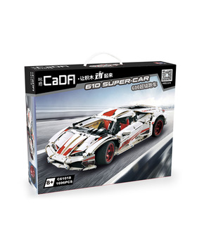 CaDA C61018 Lamborghini Huracan LP610-4 Super Car Building Blocks Toy Set
