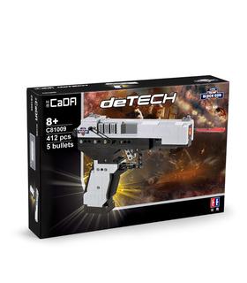 CaDA C81009 M23 Pistole Uzi Submachine Gun Building Blocks Spielzeug-Set