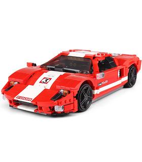 FORM KÖNIG 10001 Red Phanton Fords GT Rennwagen Bausteine Spielzeugset