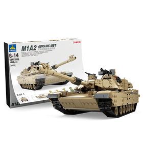 KAZI M1A2 Abrams Tank Hummer 2-in-1 Military Building Blocks Toy Set
