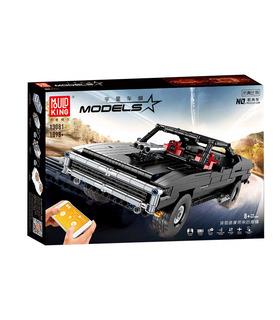 MOLD KING 13081 Ultimatives Muskelauto Dodge Charger Fernbedienung Bausteine Spielzeugset