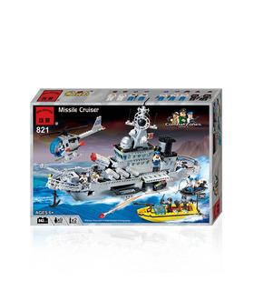 啓発821ミサイル巡洋艦ビルブロック玩具セット