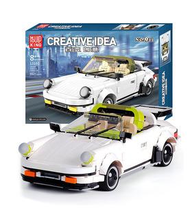 MOLD KING 13103 Porche 911 Targa Kreative Idee Bausteine Spielzeugset