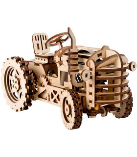 ROKR 3D Puzzle Bewegliche DIY Traktor Holzbau Spielzeug Kit