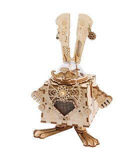 ROKR 3D Puzzle Steampunk Kaninchen Holzbau Spielzeugset