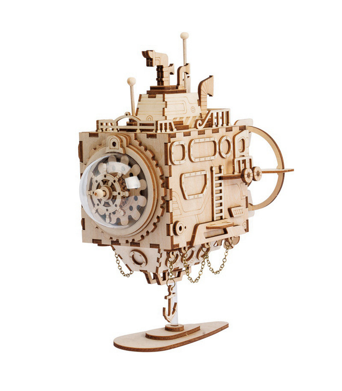 ROKR 3D Puzzle Steampunk Submarine Wooden Building Toy Kit