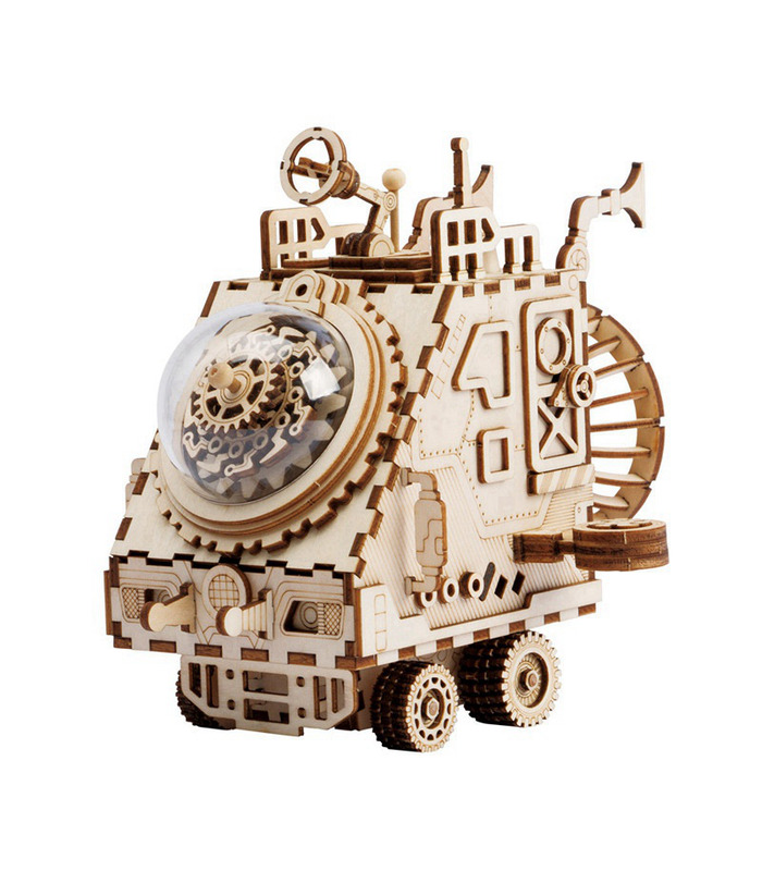 ROKR 3D Puzzle Space Vehicle Music Box Wooden Building Toy Kit