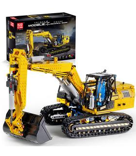 MOLDE REY 13112 Mecánica de Excavadora Excavadora Motorizada de Control Remoto de los Bloques de Construcción de Juguete