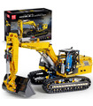 MOULD KING 13112 Mechanical Digger Motorized Excavator Remote Control Building Blocks Toy Set